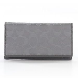 Grey Coach Card / Checkbook Holder